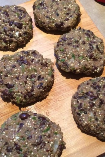 quinoa black bean burgers