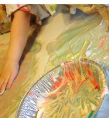 Have Old Sunscreen or Lotion?  Make Fingerpaint!