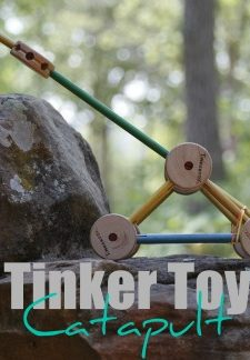 Tinker Toy Catapult Experiment