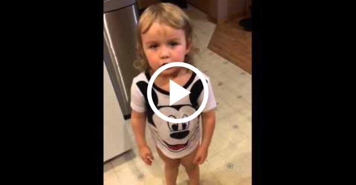 toddler mad over missing soda