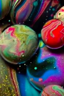 Mesmerizing Artwork Created Using Oil, Soap, And Paint