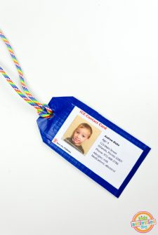 Duct Tape Luggage Tag with Child Safety Card