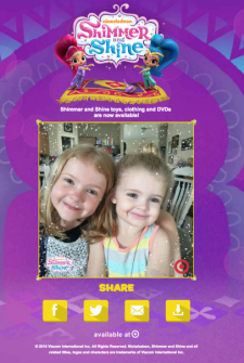 Shimmer and Shine Glitter Filter Fun