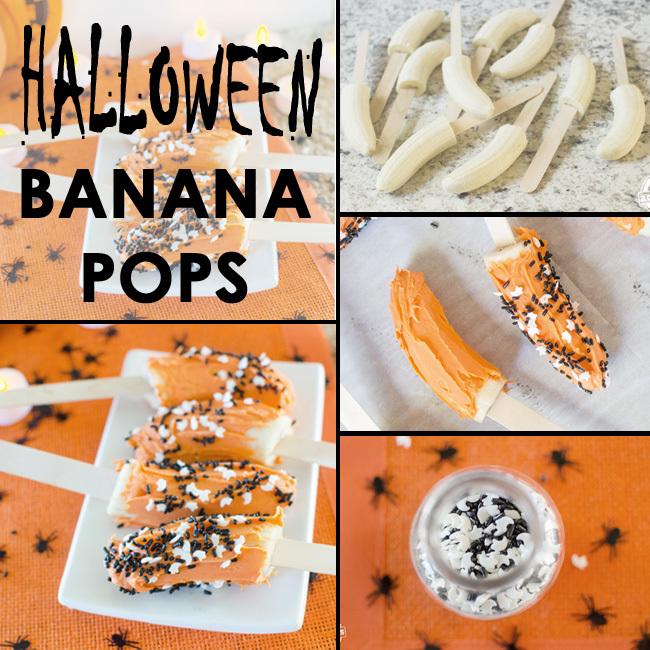 halloween banana pops