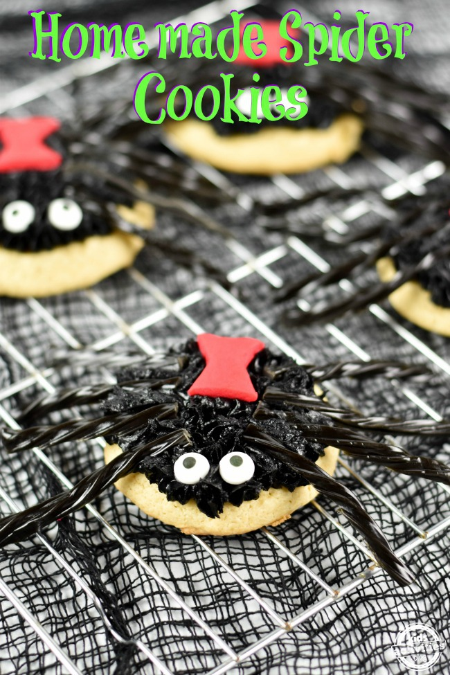 Looking for Halloween party ideas? Check out these Homemade Spider Cookies by Kids Activities Blog!