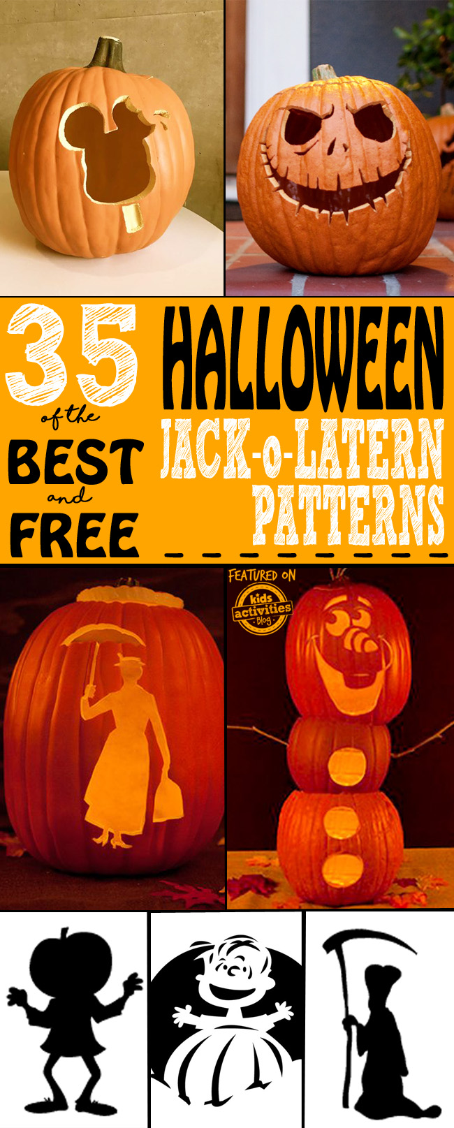 jack o latern patterns