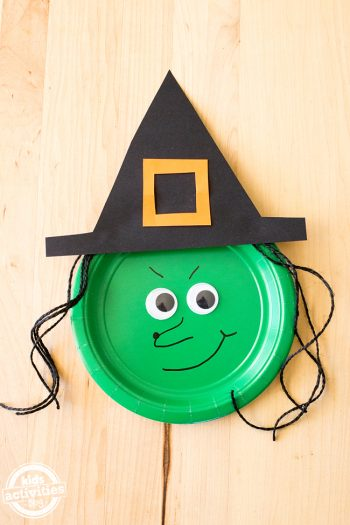 Paper Plate Witch Hats