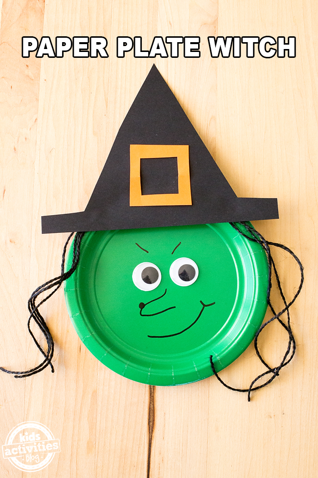 Halloween is just around the corner! Shared below is an easy tutorial for Paper Plate Witches, a cute and easy craft for Halloween.