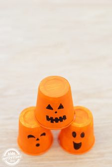 Pumpkin Cup Stack Toss Game