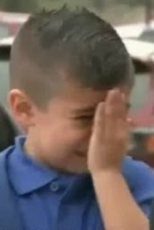 TV Reporter Made A Little Boy Cry For The Sweetest (And Saddest) Reason