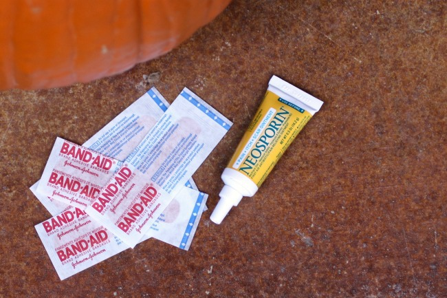 Band Aid and Neosporin Pumpkin