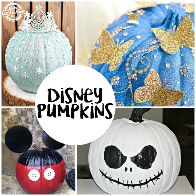 No-Carve Disney Pumpkins