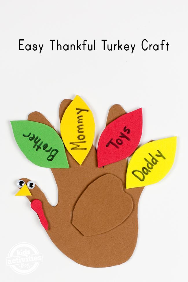 Easy Thankful Turkey Craft