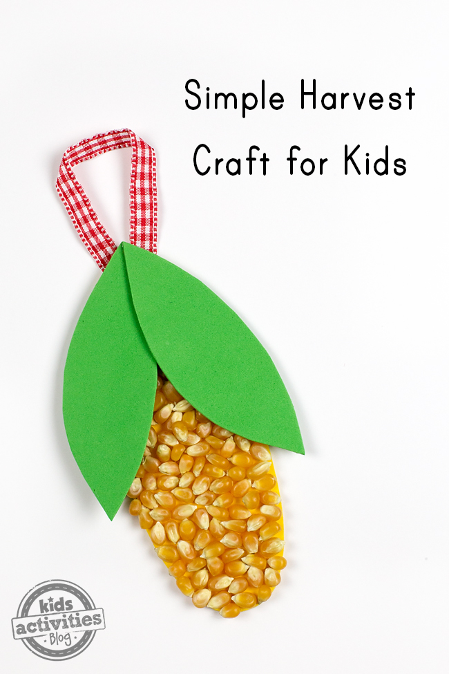 Fall is the perfect season for kids to create a Simple Harvest Craft for Kids. This craft helps develop fine-motor skills and is perfect for school or home!
