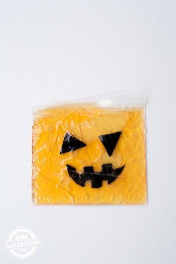 Jack O'Lantern Sensory Bag