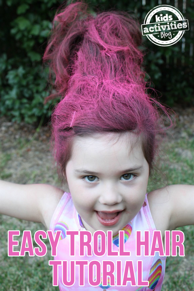Troll Hair Costume Tutorial