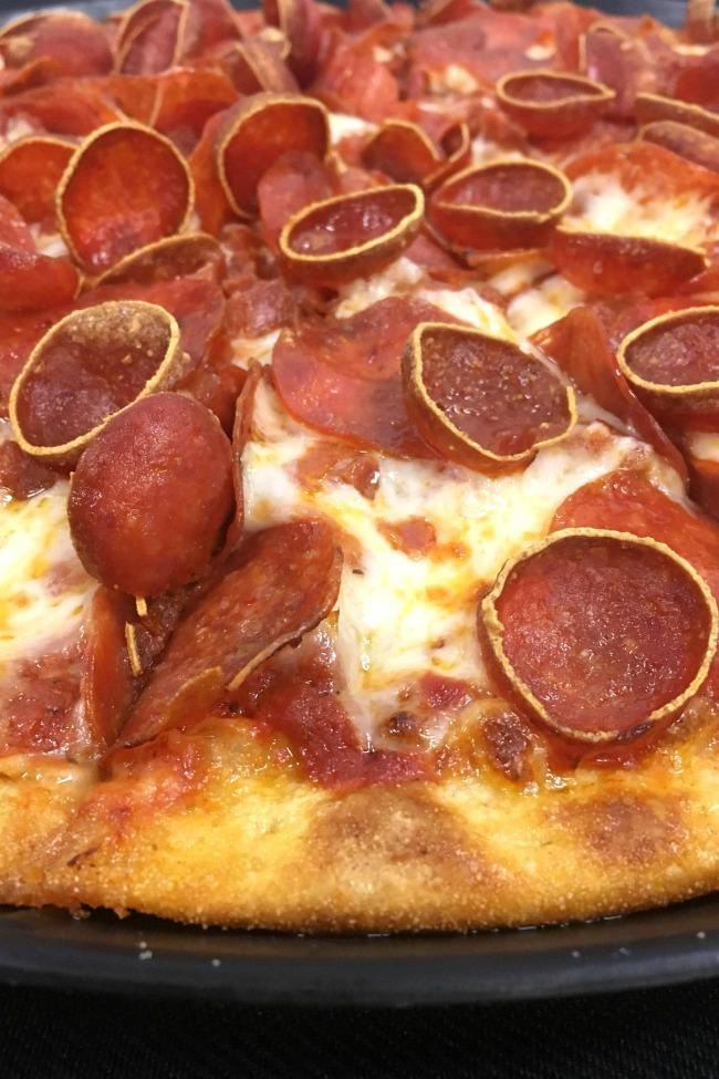 Chuck E Cheese double pepperoni pizza