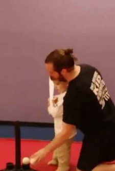 Dad Tells Son To Keep His Eye On The Ball, And He Does – Literally!