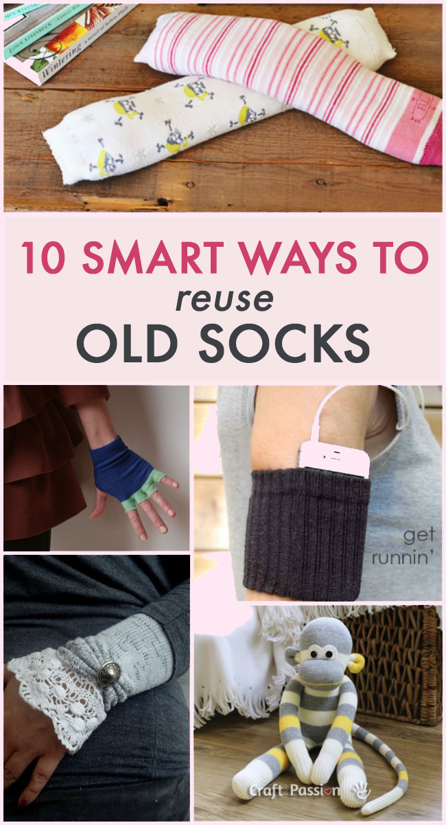 10 Ways To Reuse Old Socks
