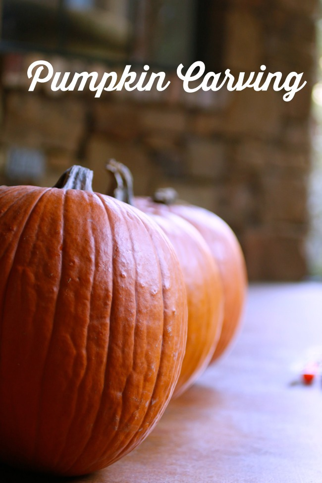 pumpkin carving with kids