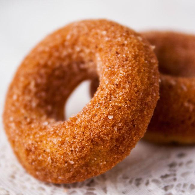 Pumpkin Spice Mini Cake Donuts
