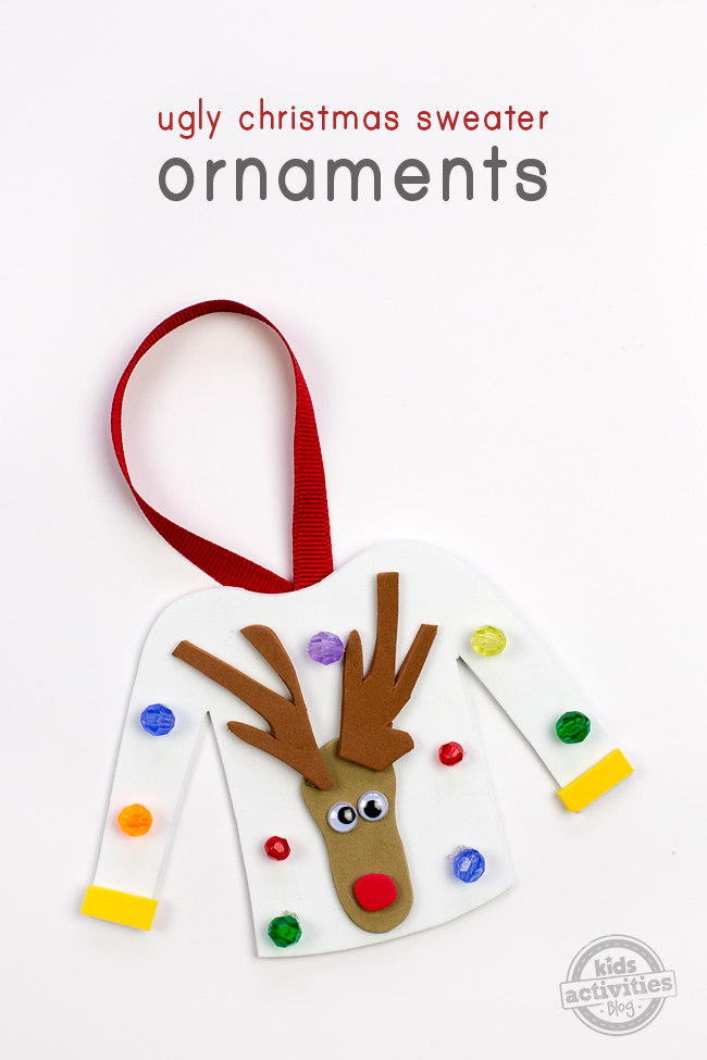 Ugly Christmas Sweater Ornament Craft