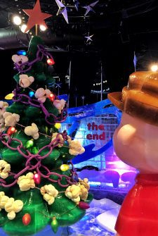Charlie Brown Christmas Display Carved Out of 2 Million Pounds of Ice