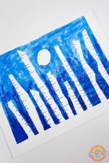 Winter Forest Preschool Art