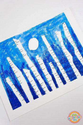 Winter Forest Preschool Art