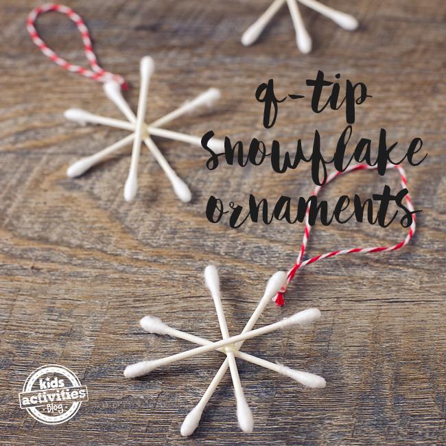 Snowflake Q-Tip Ornament