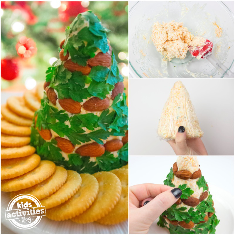 Looking for a fun, festive, and delicious treat to share at your next holiday party? Try our Christmas Tree Cheese Ball! This will be the talk of the party!