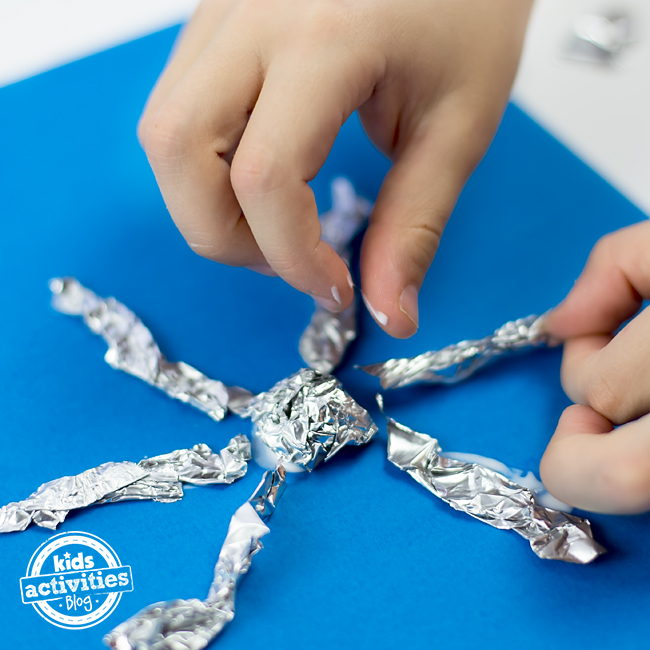 Foil Snowflake Craft for Kids