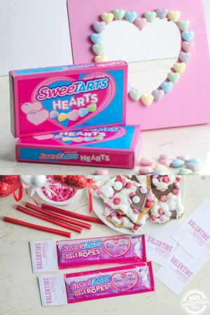 SweeTARTS Valentines Day Craft