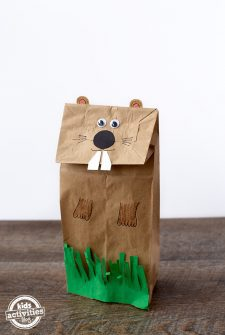 Easy and Fun Groundhog Paper Bag Puppet