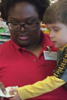 Cashier's Act Of Kindness Made Mom And Son Smile