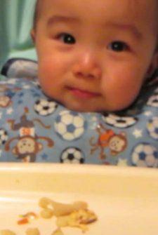 Cute Baby Eats Food Like A Ninja!