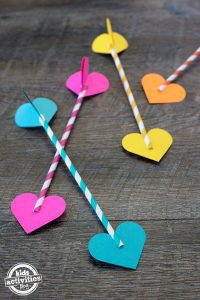 Paper Straw Valentine Darts