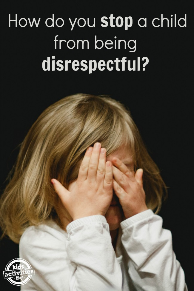 stop child from being disrespectful