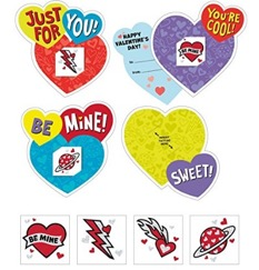 These tattoo cards are fun Valentine's cards for kids!