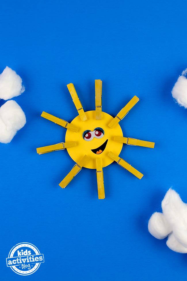 Arte de pinza de ropa Happy Sunshine