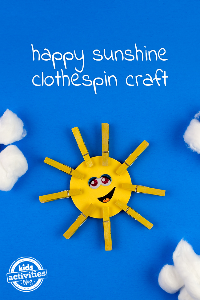 Happy Sunshine Clothespin Craft