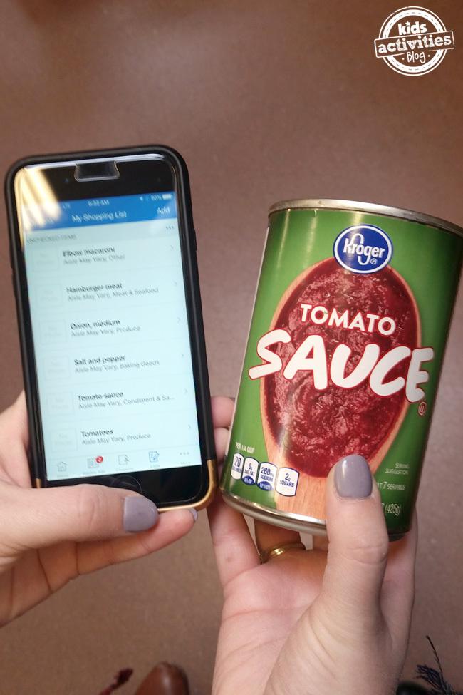 Tomato Sauce on List