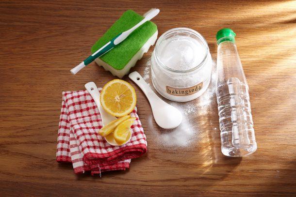 Vinegar citrus baking soda for house smells