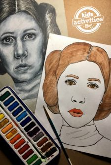 Princess Leia Coloring Page for Kids and Adults