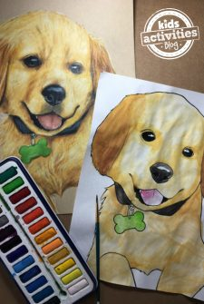 Puppy Coloring Pages for Kids and Adults