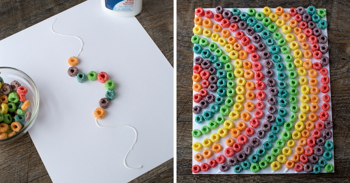 Rainbow Cereal Art