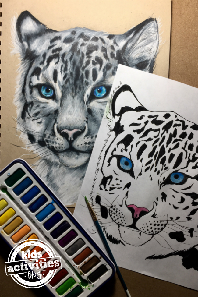 Snow Leopard Coloring Pages for Kids and Adults