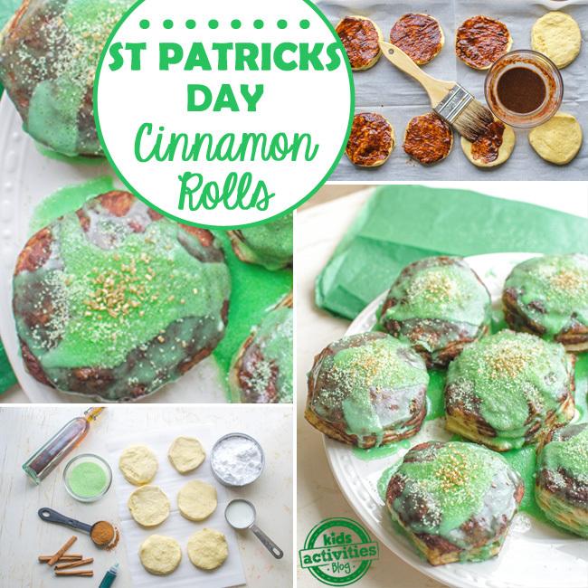 st patricks cinnamon rolls