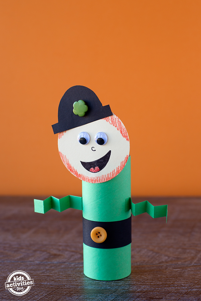 Easy and Fun Toilet Roll Leprechaun Craft