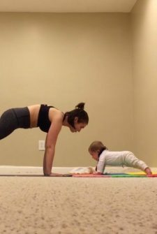 This Six-Month-Old Loves Doing Yoga With Mom